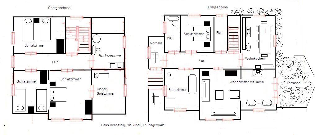 Het huis plattegrond for Plattegrond woning